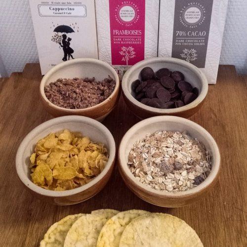 Céréales biscuits et chocolat