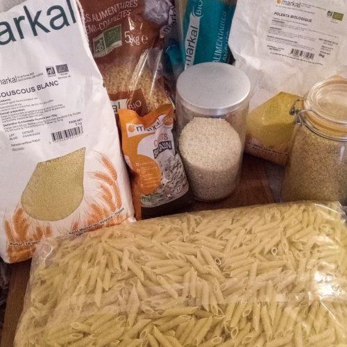 Pâtes riz blé et semoule